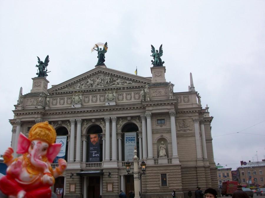 Ganesh en Lviv (Ucrania)