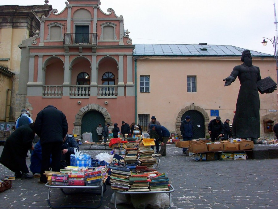 Mercado de libros, Lviv (Ucrania)