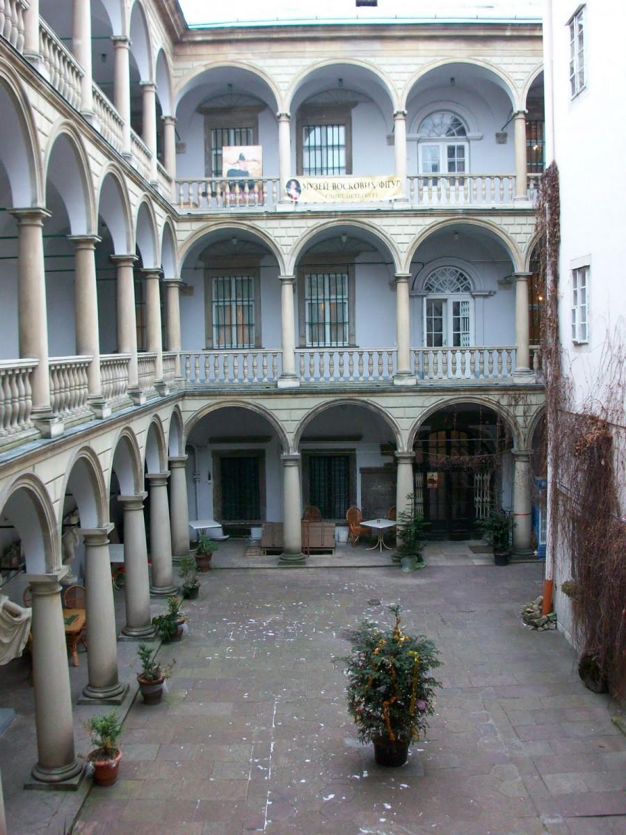 Patio italiano en Lviv (Ucrania)