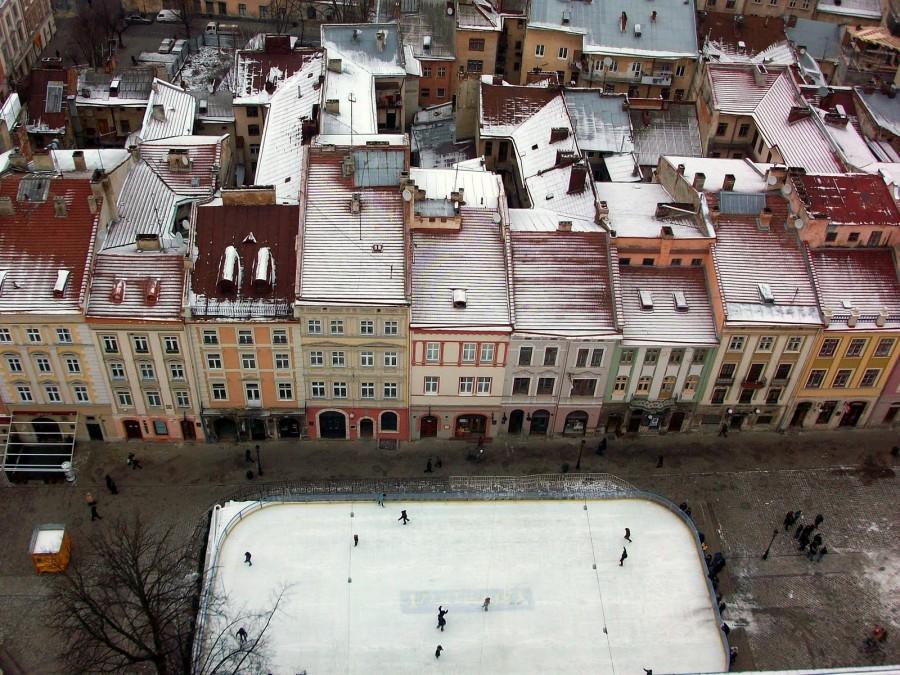 Pista de patinaje sobre hielo, Lviv (Ucrania)
