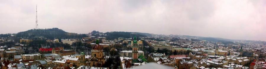 Vistas desde la torre del Ayuntamiento de Lviv (Ucrania) (1)