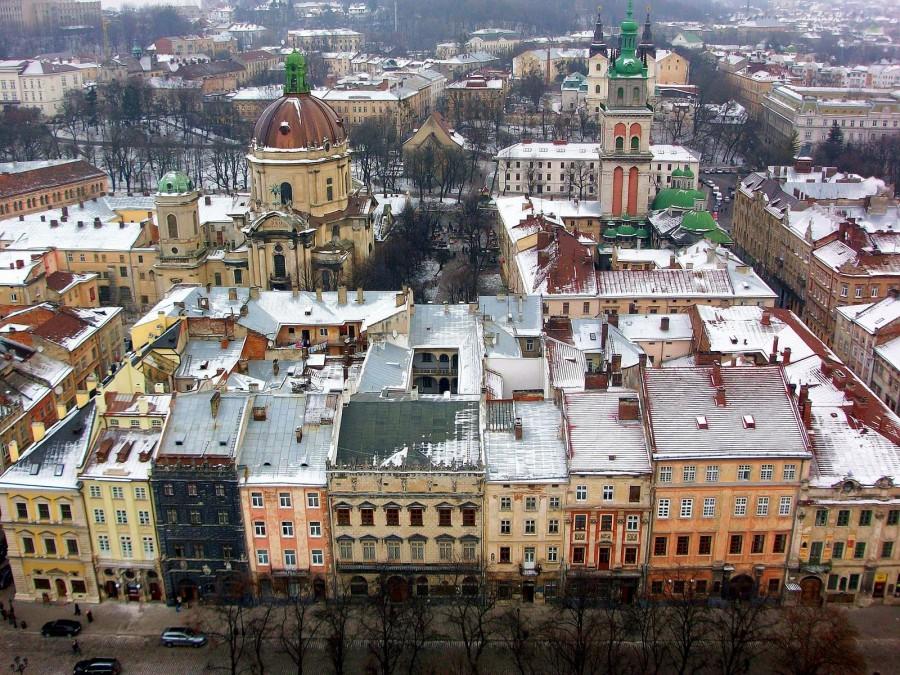 Vistas desde la torre del Ayuntamiento de Lviv (Ucrania) (2)
