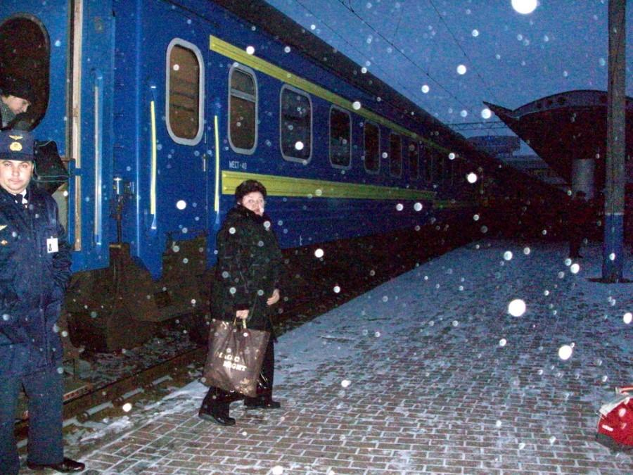 estación de trenes de Kiev