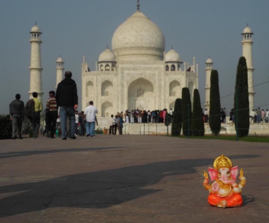Ganesh en el Taj Mahal
