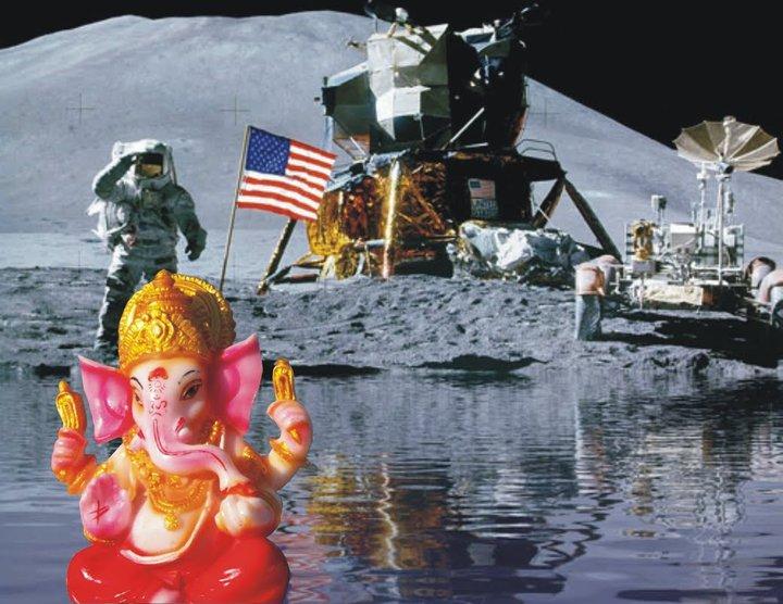 ganesha en la luna