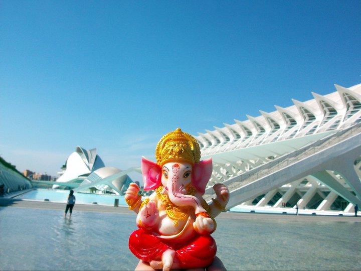 Ganesh en Valencia! La ciudad de las Artes y las Ciencias