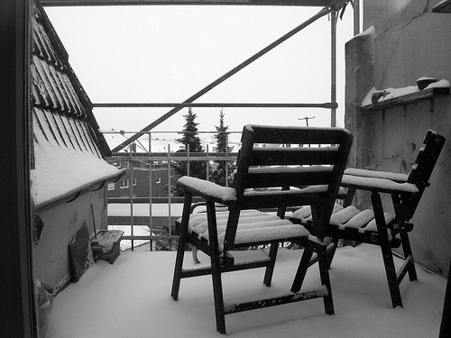 Balcón nevado