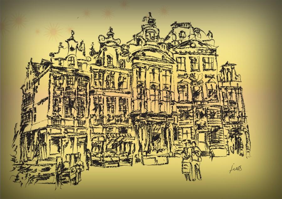 dibujo de Bruselas