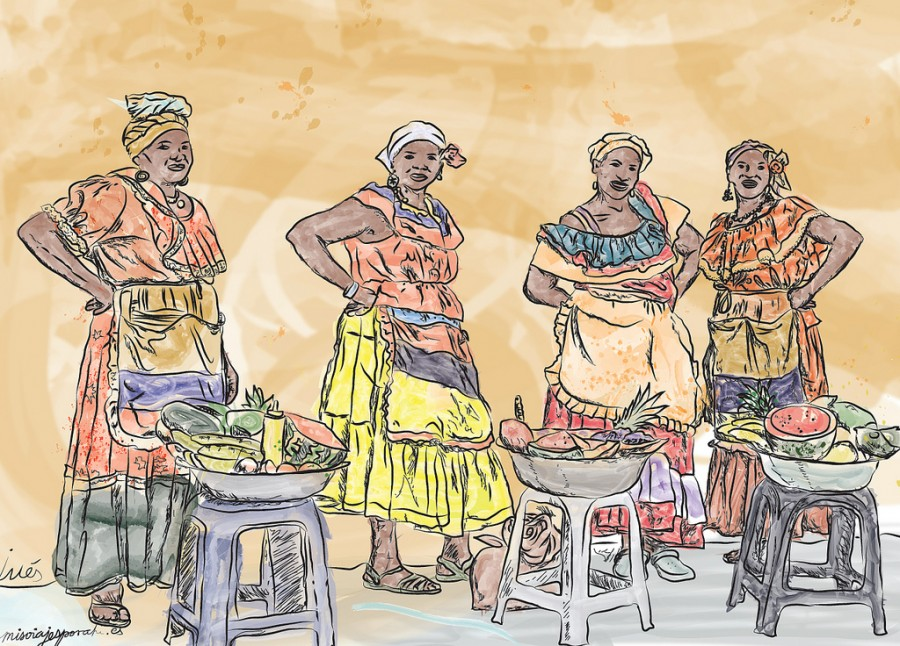colombianas de cartagena de indias