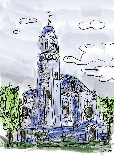 La Iglesia Azul de Bratislava, Eslovaquia