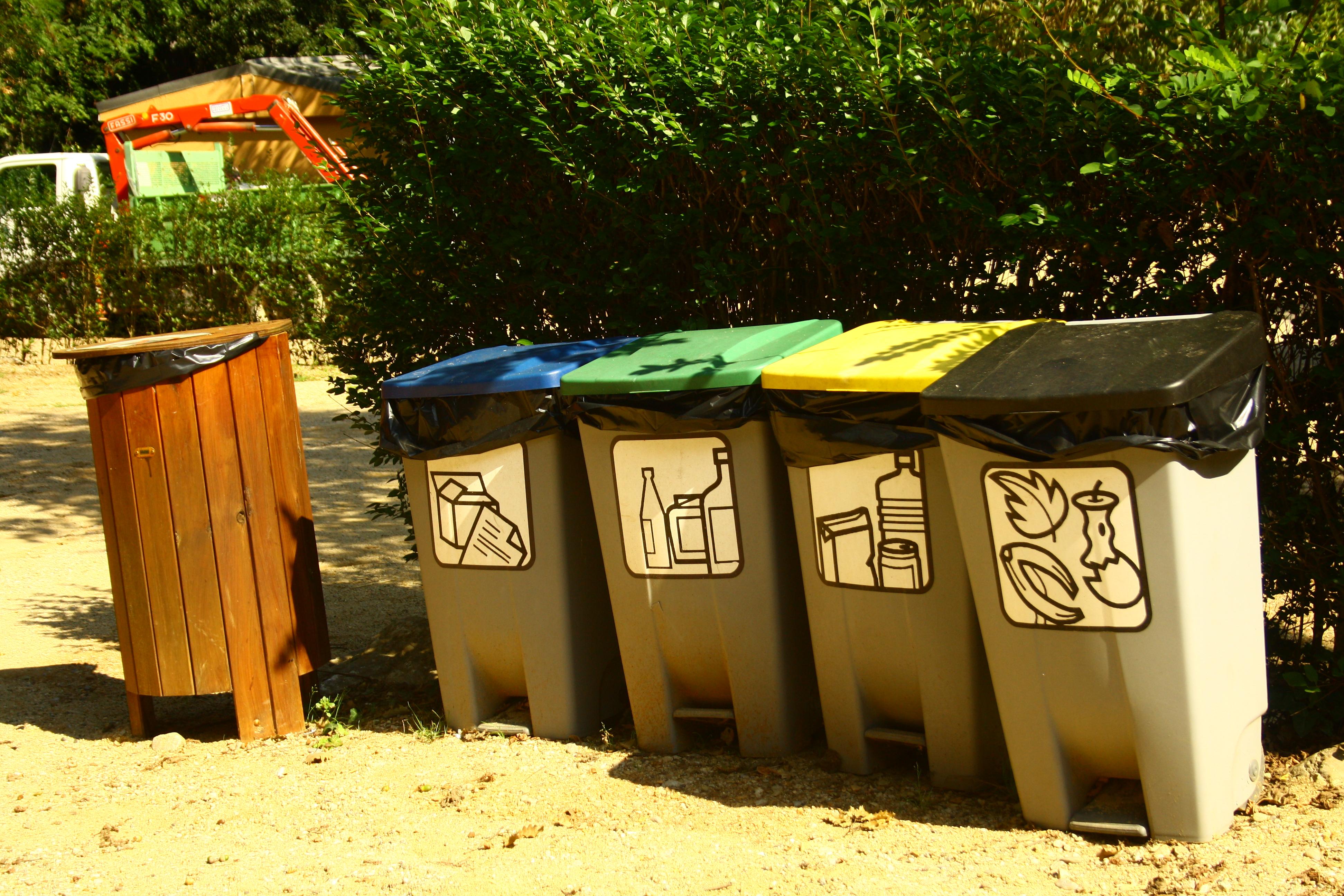 reciclaje en camping