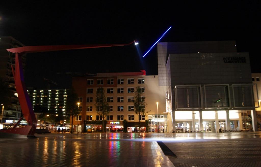 plaza modernista de Roterdam