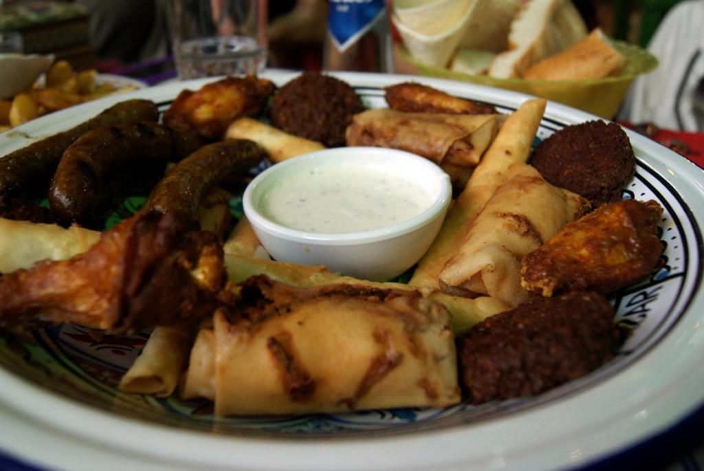plato del restaurante Bazar de Rotterdam