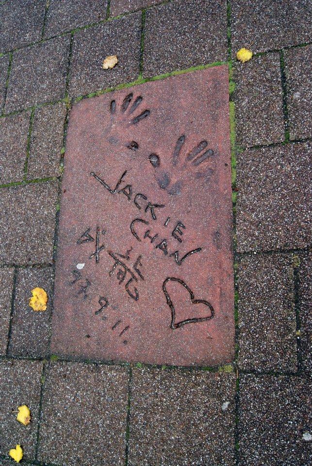 jackie chan en el paseo de la fama de Roterdam