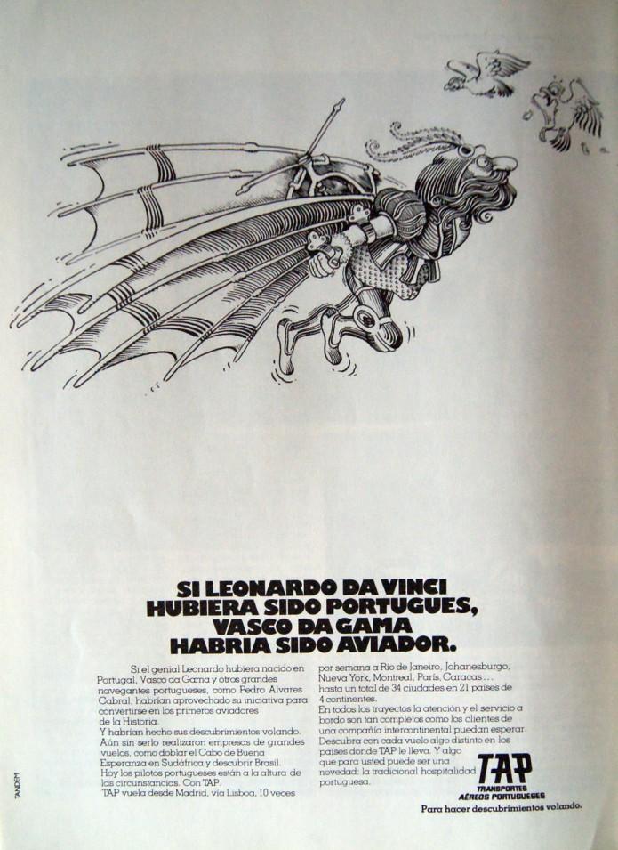publicidad de TAP de 1980