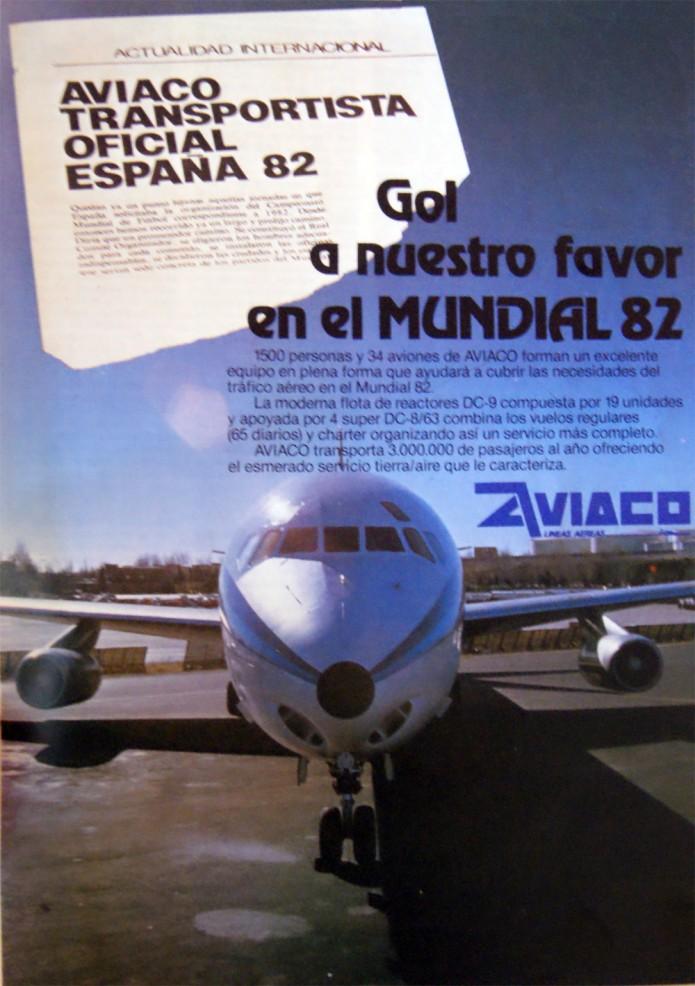 publicidad de AVIACO Mundial 82