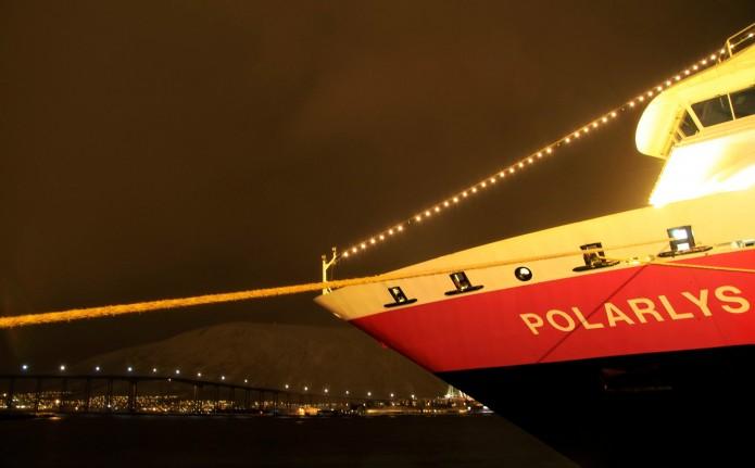 El Polarys, a nuestra llegada a Trømso