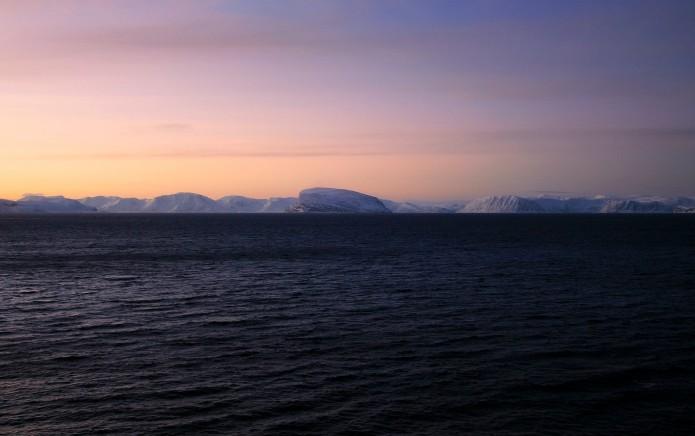 El fiordo de Hammerfest visto desde la cubierta del Polarys
