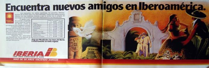 publicidad de Iberia 1979