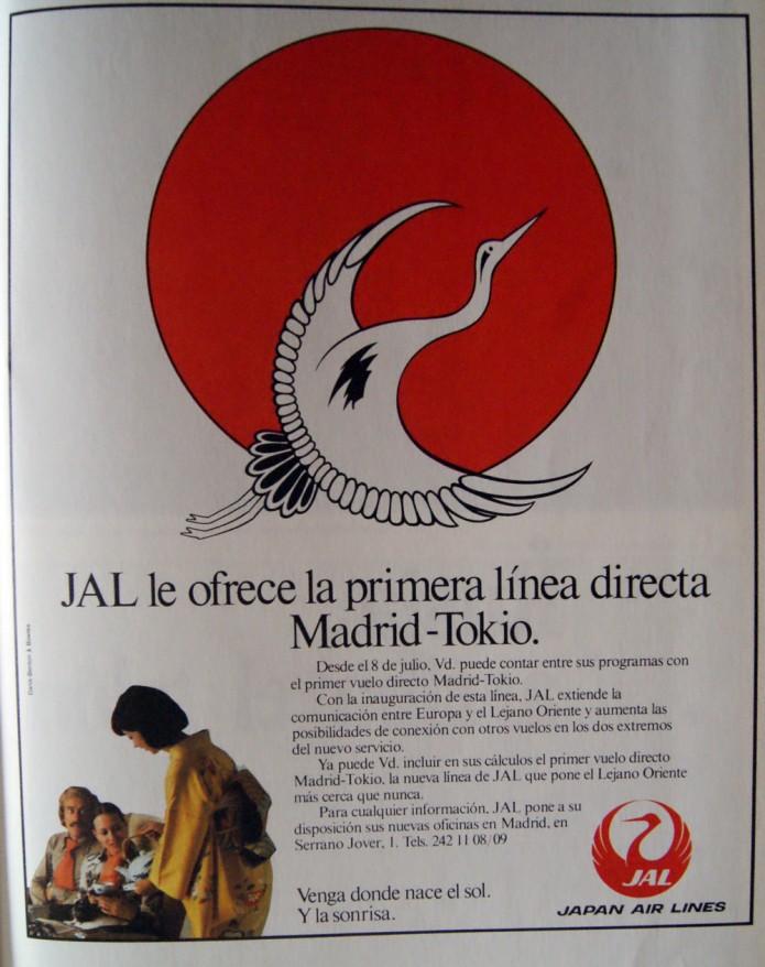 Jal: primera línea Madrid-Tokio