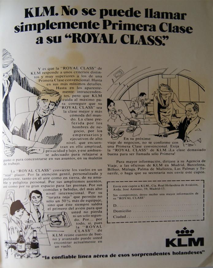 anuncio antiguo de KLM