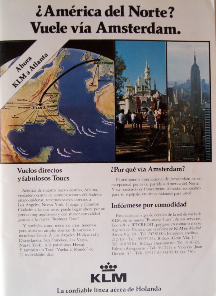 anuncio 1981 KLM