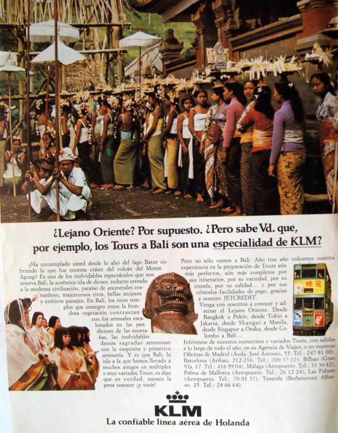 1982 anuncio KLM Lejano Oriente