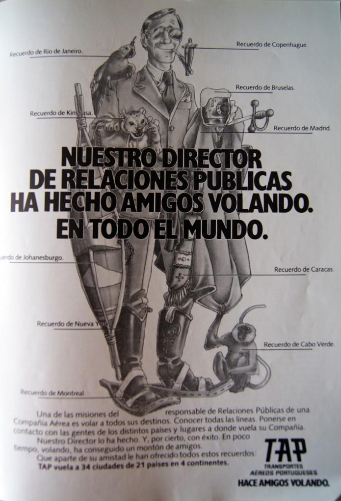 publicidad de TAP de 1979