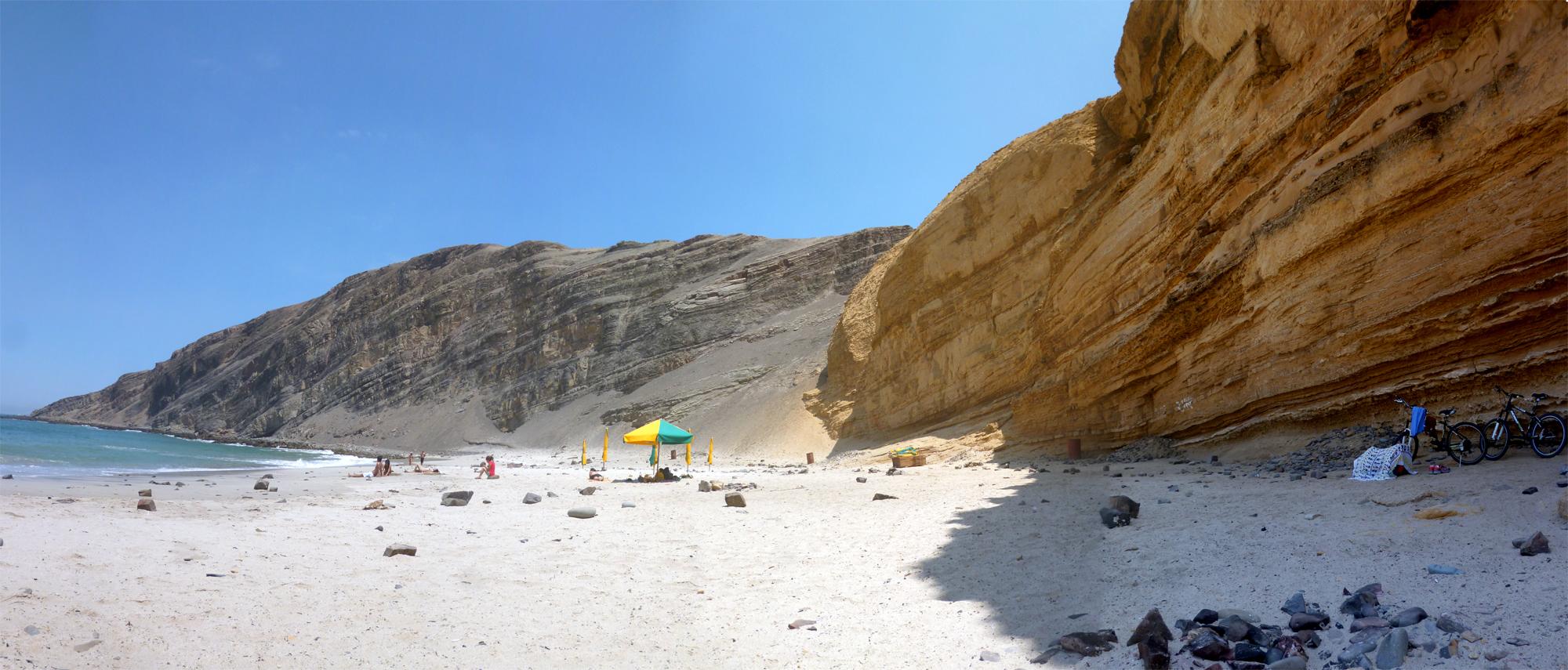 Playa La Mina, Paracas