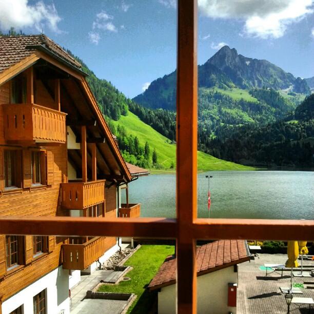 vistas desde el hotel Hostellerie am Schwarzsee