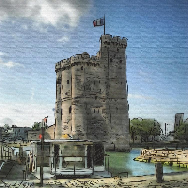 La Rochelle dibujo