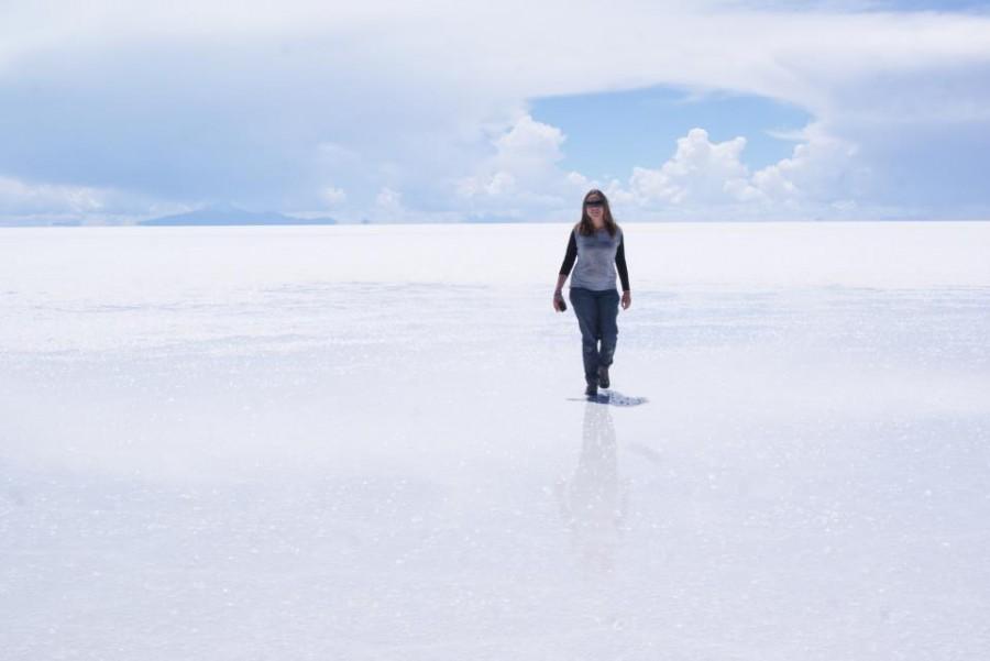 Inés en el Salar de Uyuni