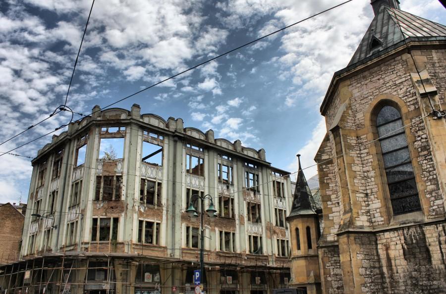 edificio de la guerra