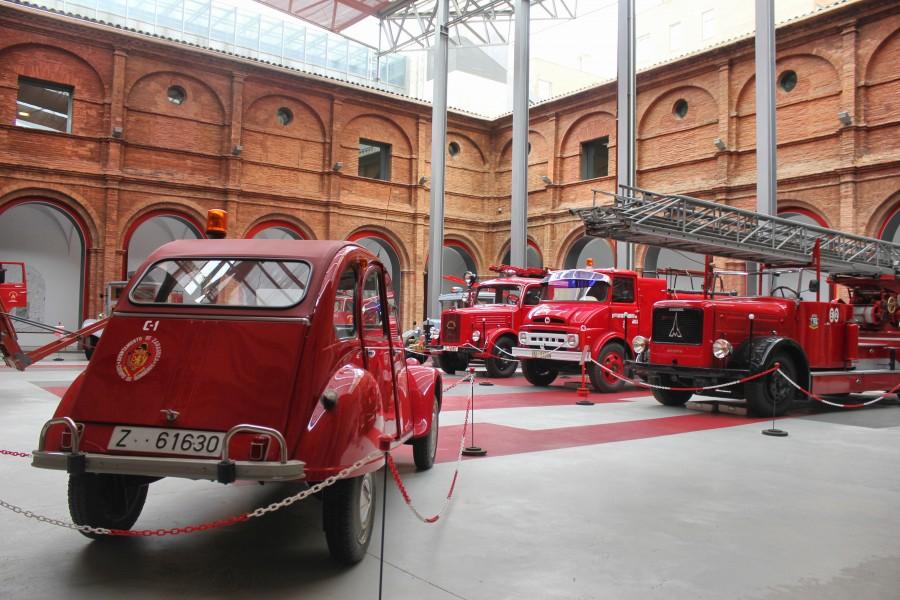 Museo del Fuego, sala dedicada al Cuerpo de Bomberos de Zaragoza