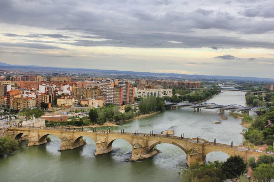 Río Ebro desde una de las torres del Pilar