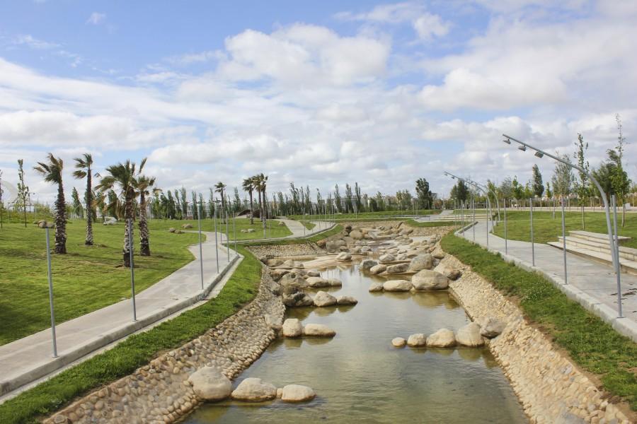 Parque del Agua instantes anteriores a llenarse de agua