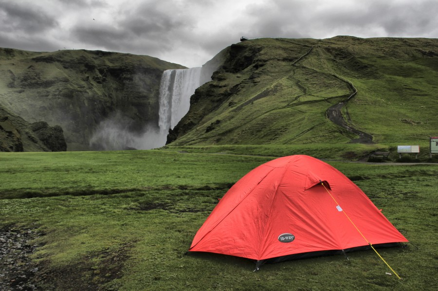 camping skogafoss
