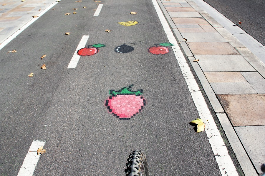 carril bici paseo echegaray Biciojuego