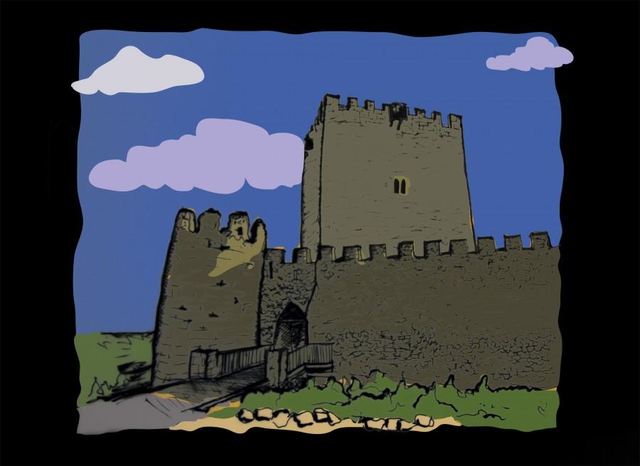 castillo de tiedra dibujo
