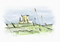 Dibujo de castillo de Tiedra