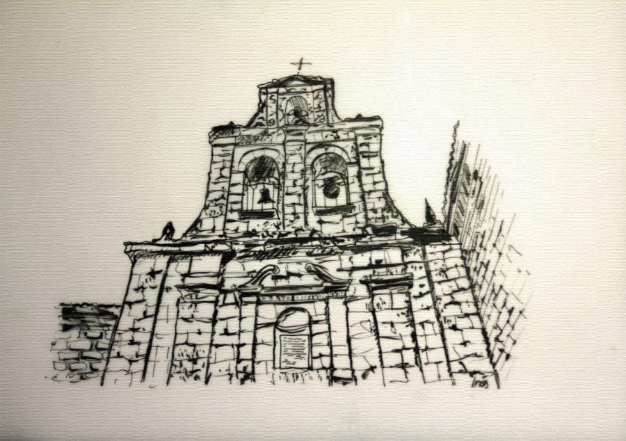 ermita de nuestra señora de tiedra vieja dibujo