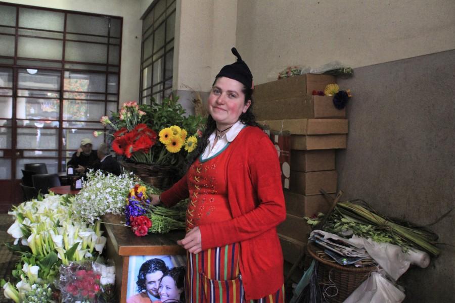 Florista del mercado de Labradores