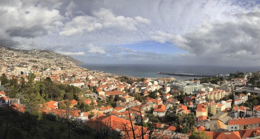 Vistas de Funchal desde el fuerte