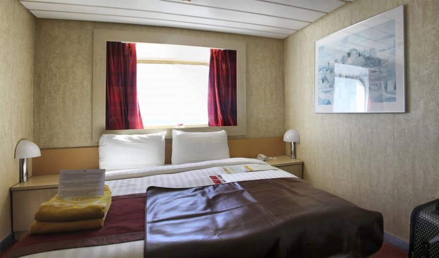 Mi camarote: con baño privado, TV y vistas (al mar, claro)