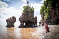 Hopewell Rocks, las mareas más extremas del mundo. CANADÁ