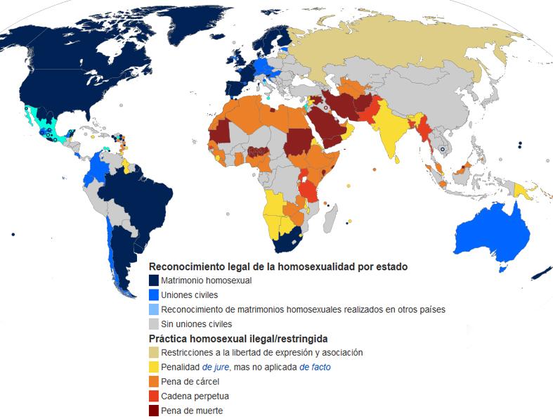 mapa derechos lgtb