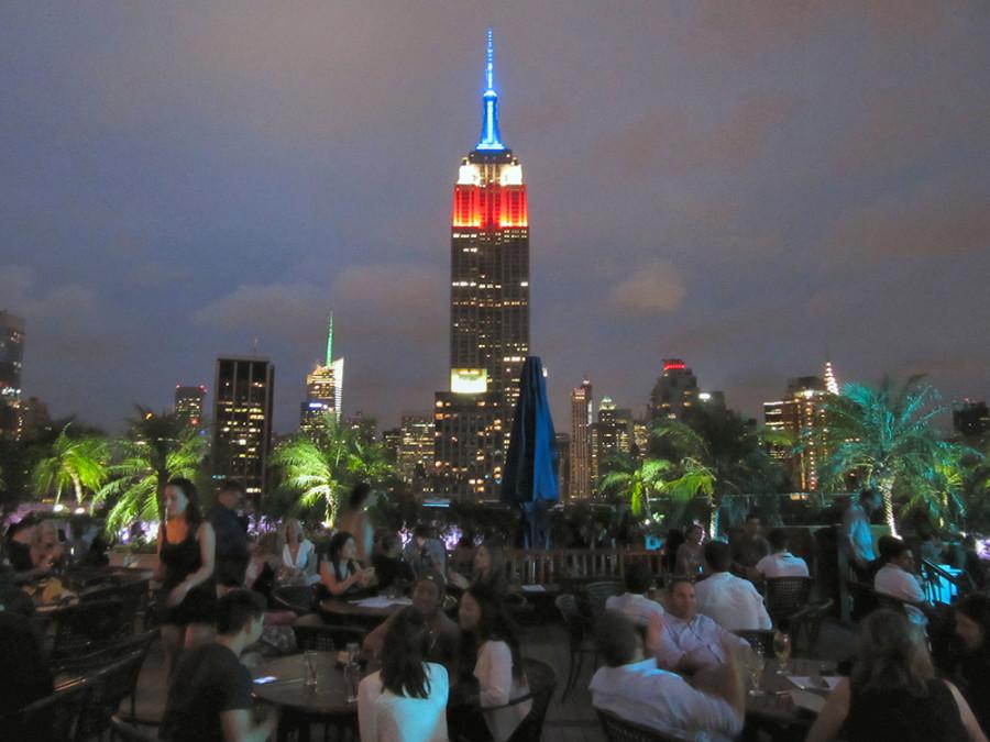 Bar rooftop en Nueva York