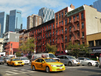 Hell's Kitchen en la 9th Avenue con la 52nd Street