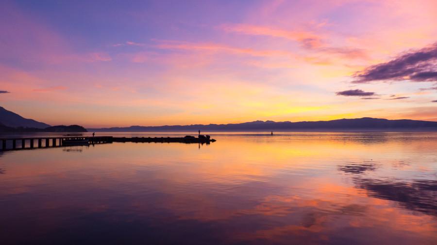 Ohrid sunset