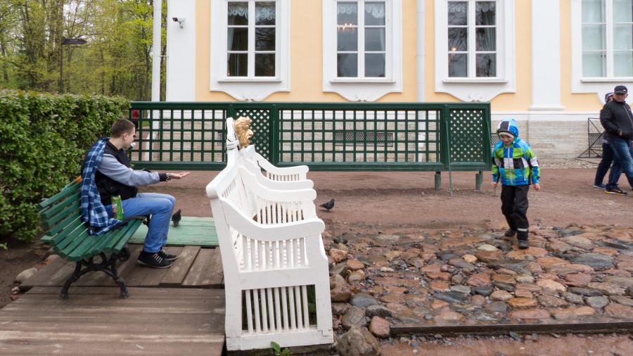 Uno de los bromistas de Peterhof